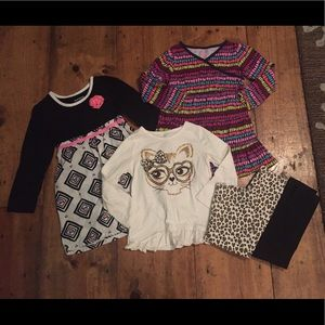 Healthtex 5 Pc Lot Dresses, Outfit, Leggings 4T
